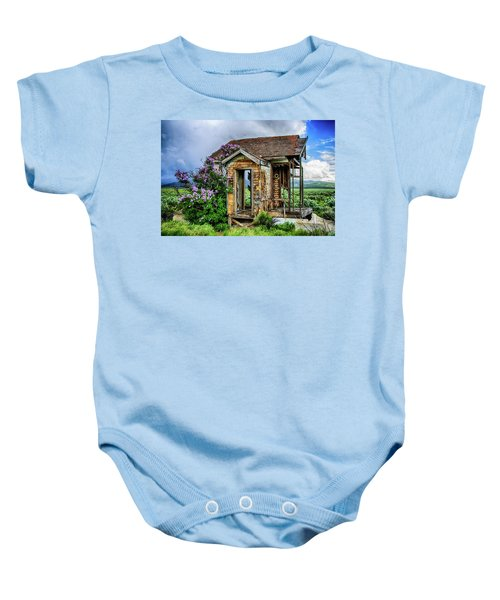 Lonely Lilacs Baby Onesie