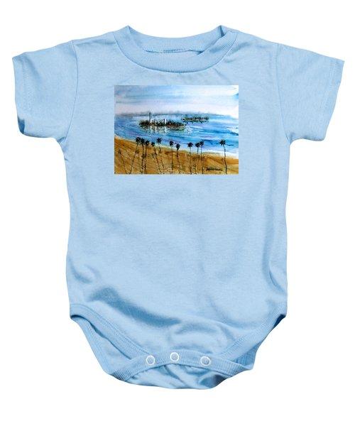 Long Beach Oil Islands Before Sunset Baby Onesie
