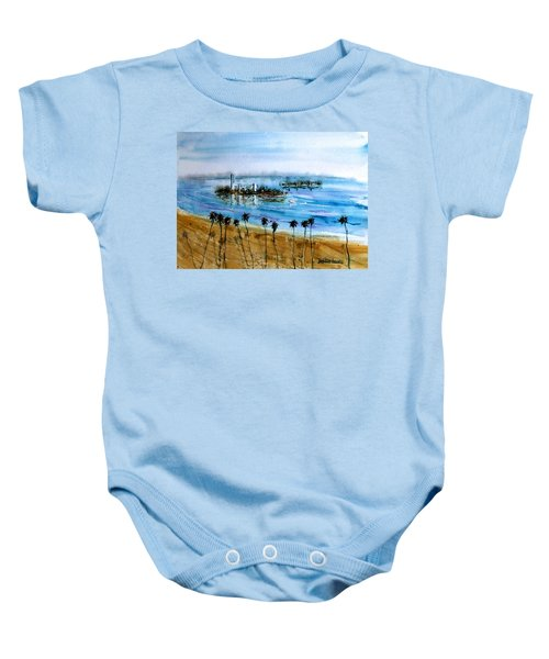 Long Beach Oil Islands Before Sunset Baby Onesie