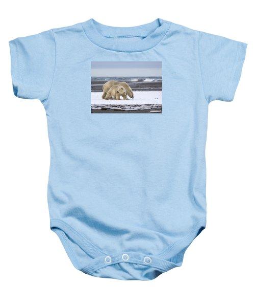 Looking Back In The Arctic Baby Onesie