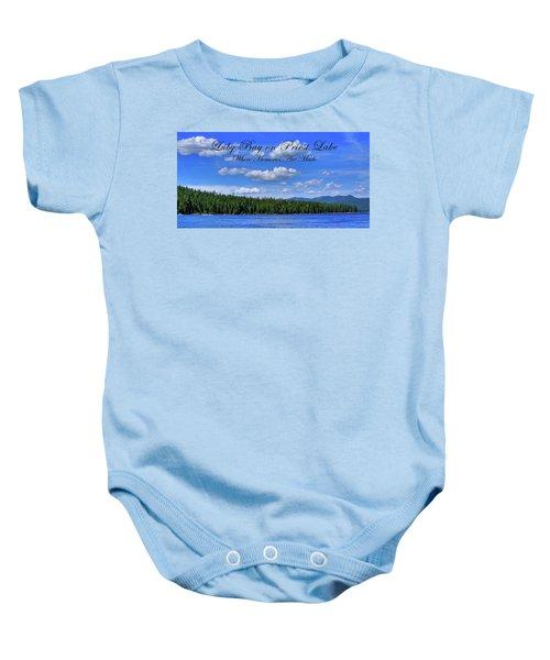 Luby Bay On Priest Lake Baby Onesie