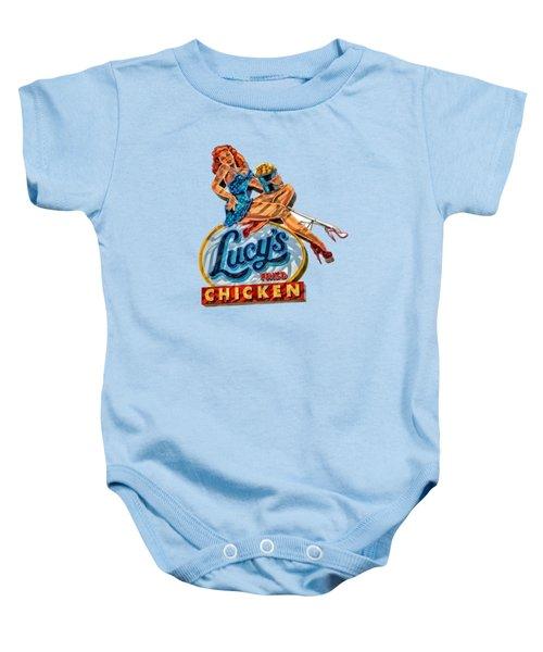 Lucys Fried Chicken Tee Baby Onesie by Edward Fielding