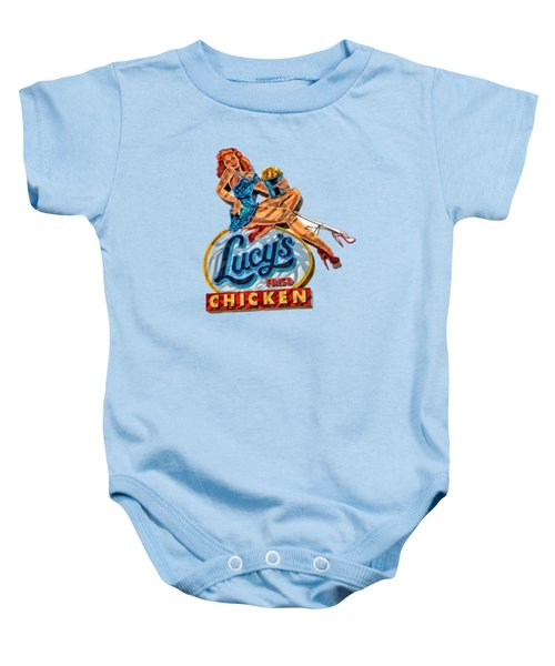 Lucys Fried Chicken Tee Baby Onesie