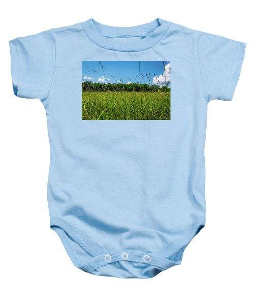 Lying In The Grass Baby Onesie