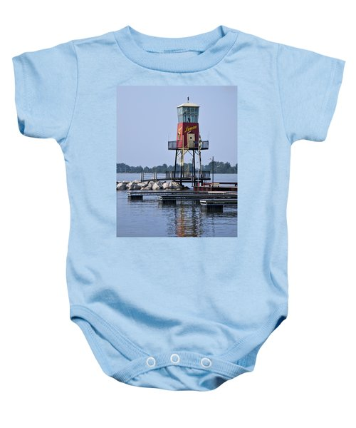 Lyman Harbor Lighthouse Baby Onesie