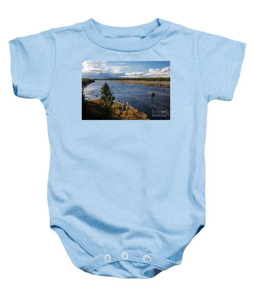 Madison River In Yellowstone National Park Baby Onesie