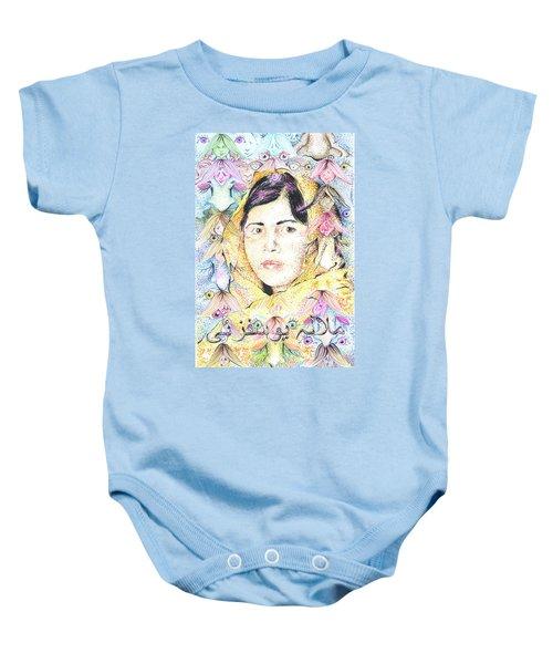 Malala-don't Ignore Us-sombra De Arreguin Baby Onesie