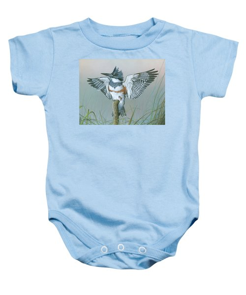 Male Belted Kingfisher Baby Onesie