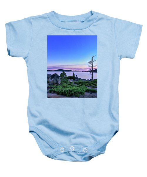 Man And Dog Baby Onesie