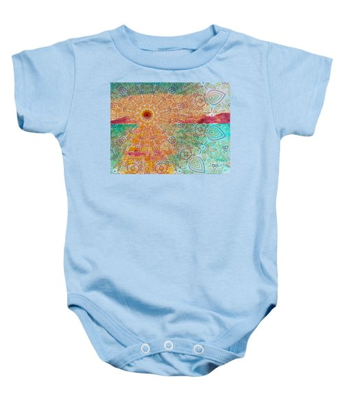Mandala Sets Over The Dunes Baby Onesie