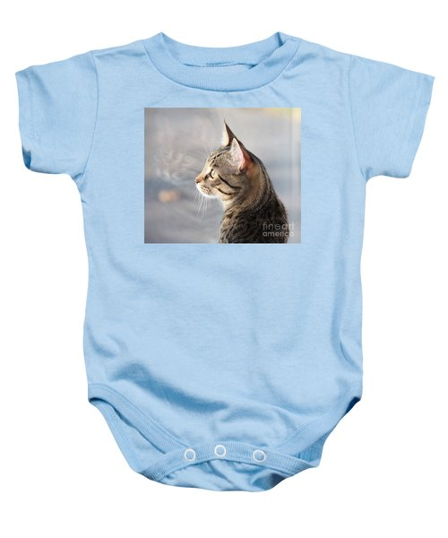 Many Faces Of Monty.. Baby Onesie