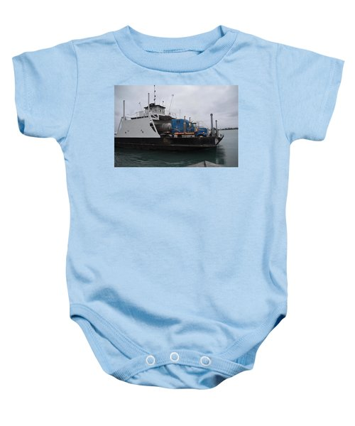 Marine City Mich Car Truck Ferry Baby Onesie