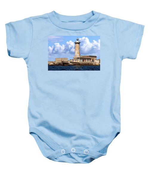Marsala Lighthouse Baby Onesie