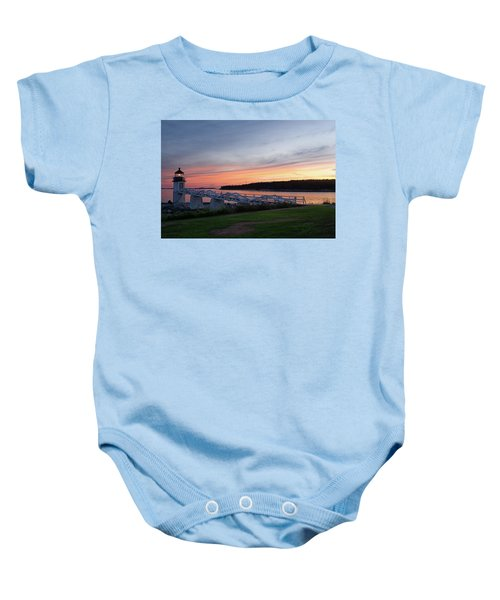 Marshall Point Lighthouse, Port Clyde, Maine -87444 Baby Onesie