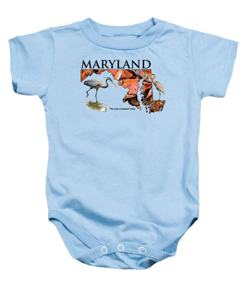 Maryland - The Land Of Pleasant Living Baby Onesie