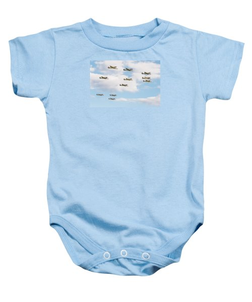 Massed Spitfires Baby Onesie by Gary Eason