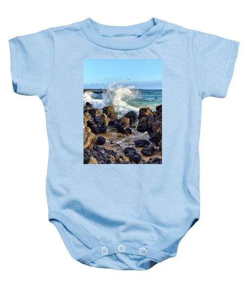 Maui Wave Crash Baby Onesie