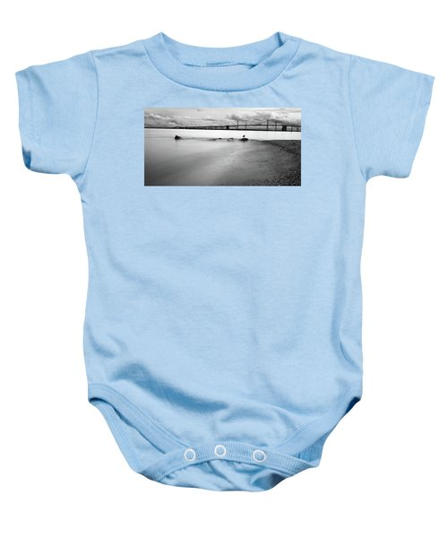 Meditating Sea Gull Baby Onesie
