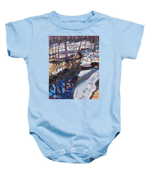 Melt Water And Ice At The Forest Edge Baby Onesie