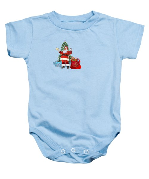 Merry Christmas From Santa Baby Onesie