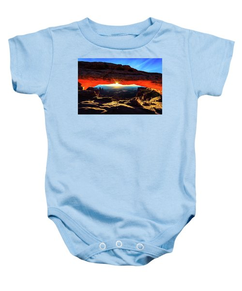 Mesa Arch Sunrise Baby Onesie