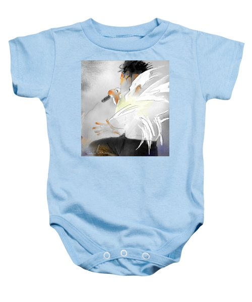 Michael Jackson 08 Baby Onesie by Miki De Goodaboom