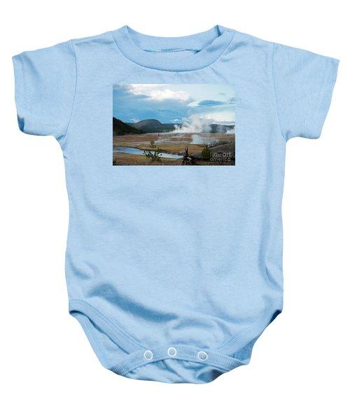 Midway Geyser Area Baby Onesie