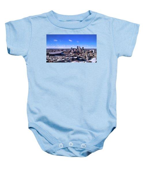 Minneapolis Skyline On A Sunny Day Baby Onesie