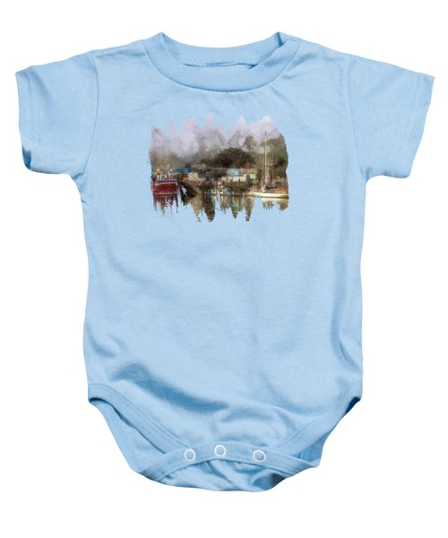 Miss Birdie And The Sailboat Baby Onesie