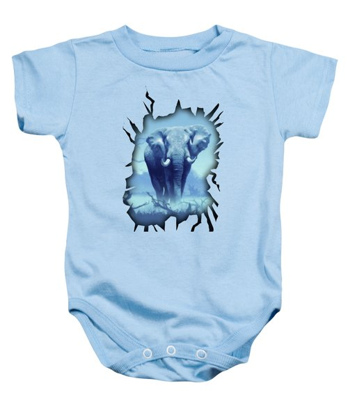 Misty Blue Morning In The Tsavo Baby Onesie