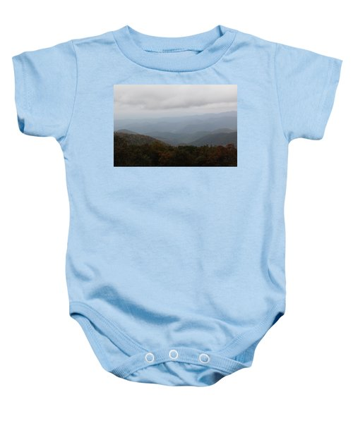 Misty Mountains More Baby Onesie