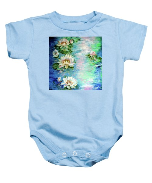 Misty Waters Waterlily Pond Baby Onesie