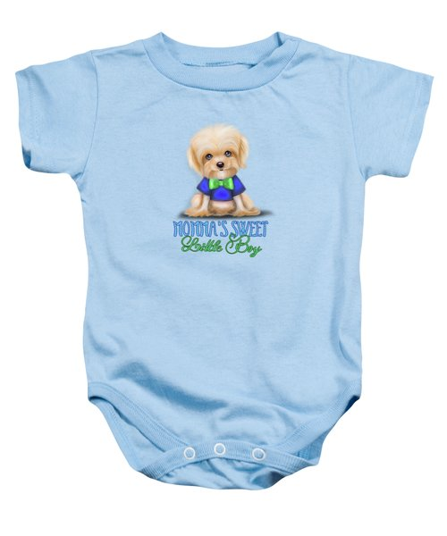 Mommas Sweet Little Boy Baby Onesie