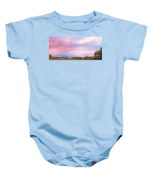 Montana Sunset 1 Baby Onesie