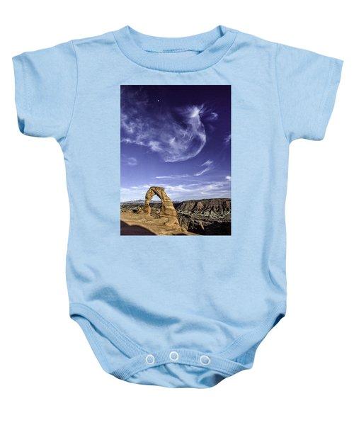 Moonset Delicate Arch Baby Onesie