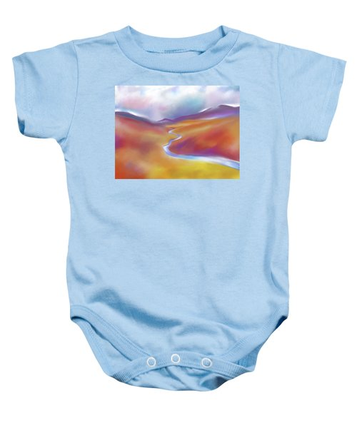 Moors And Mountains Baby Onesie