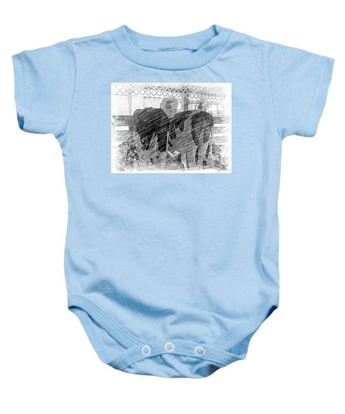 Moo...ving At The County Fair Baby Onesie