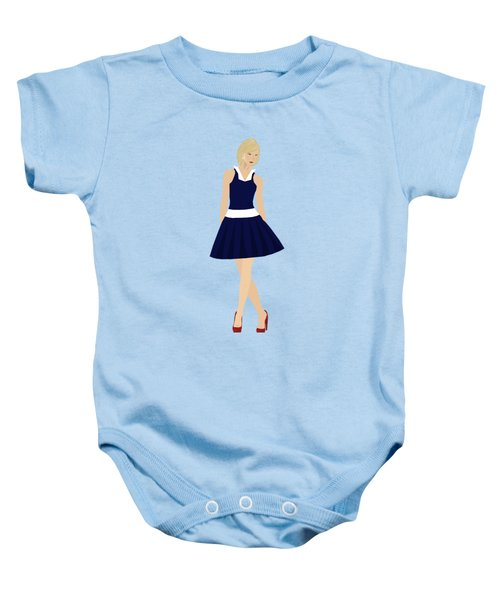 Baby Onesie featuring the digital art Morgan by Nancy Levan