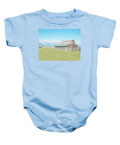 Mormon Row Barn - Grand Tetons Baby Onesie