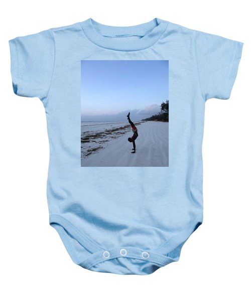 Morning Exercise On The Beach Baby Onesie