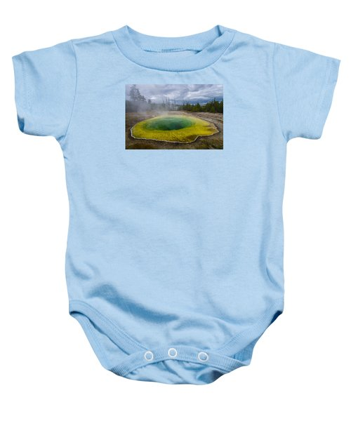 Baby Onesie featuring the photograph Morning Glory Pool by Gary Lengyel