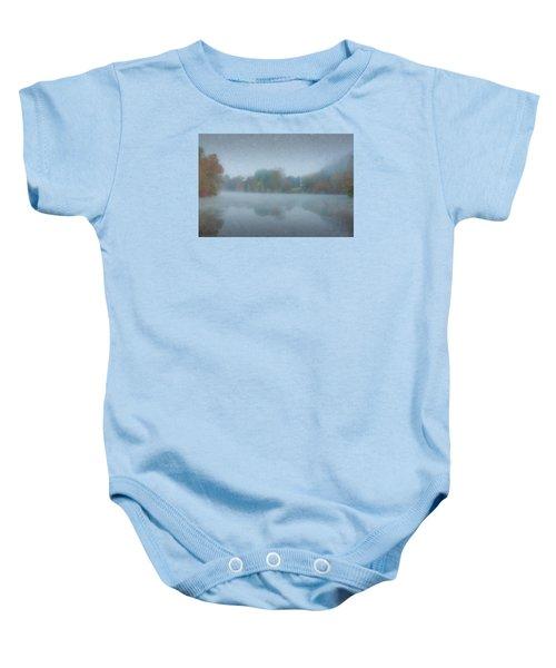 Morning Mist On Langwater Pond Baby Onesie