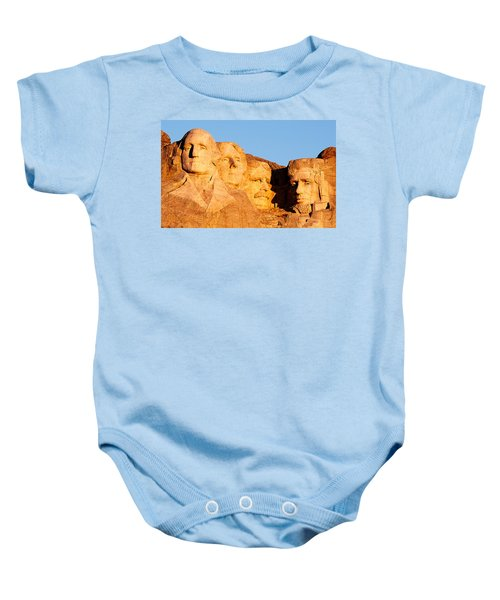 Mount Rushmore Baby Onesie