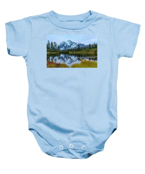 Mount Shuksan And Picture Lake Baby Onesie