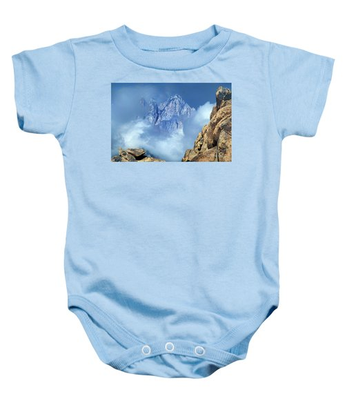 Mount Whitney Clearing Storm Eastern Sierras California Baby Onesie
