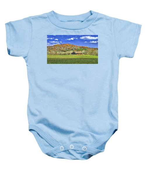 Mountain Barn Baby Onesie