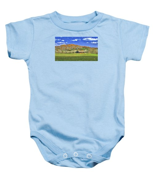 Mountain Barn Baby Onesie