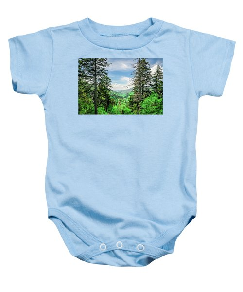 Mountain Forest Baby Onesie