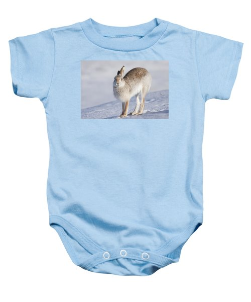 Mountain Hare In The Snow - Lepus Timidus  #2 Baby Onesie