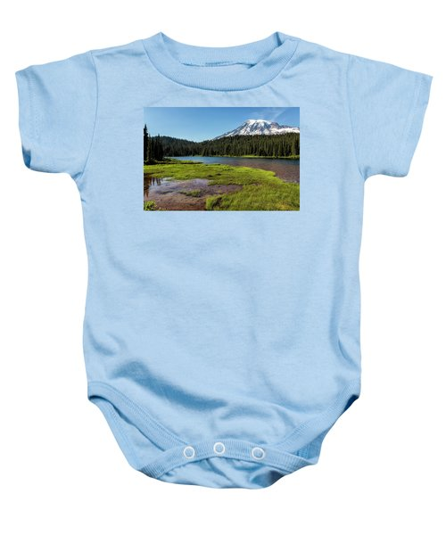 Mt Rainier From Reflection Lake, No. 2 Baby Onesie